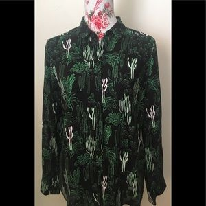 Topshop shirts us 6 I'm 10 green with cactus 🌵